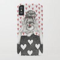 valentine iPhone & iPod Cases featuring Valentine by Sara Elan Donati