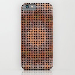 Wooden Circular Wood Weave Pattern iPhone Case