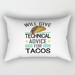 Technically Engineers Shirt Taco Gift Idea Will give technical advice for tacos TShirt Rectangular Pillow
