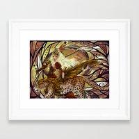 safari Framed Art Prints featuring Safari by Bea González