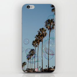 Bubbles & Palm Trees iPhone Skin