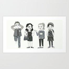 Riverdale - Archie, Veronica, Betty, Jughead Art Print