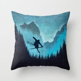 Ride Ski Throw Pillow
