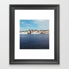 Gamla Stan on the water Framed Art Print