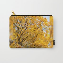 Yellow leaves autumn trees Carry-All Pouch