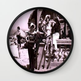 Beachside Beauties in Juan-Les-Pins 1930 Wall Clock