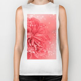 A Touch of Love - Pink Rose with Hearts #1 #art #society6 Biker Tank