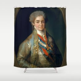 "Francisco Goya ""Ferdinand VII, When Prince of Asturias"" Shower Curtain"