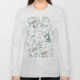 Eucalyptus pattern Long Sleeve T-shirt