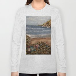Rock Pools at Ogmore Long Sleeve T-shirt