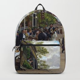 Sunday in Bas-Meudon Landscape Painting by Firmin-Girard Backpack