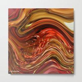 Swirl of Fibres Metal Print