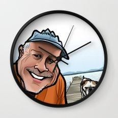 Bulldog on the Dock Wall Clock