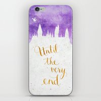dumbledore iPhone & iPod Skins featuring Until the very end by Earthlightened
