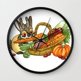November Jackalope Wall Clock