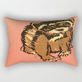 Itty the ferret boy Rectangular Pillow