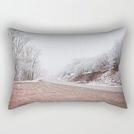 As the snow falls Rectangular Pillow