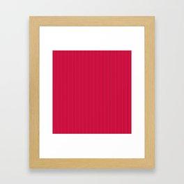 Red-colored stripes Framed Art Print