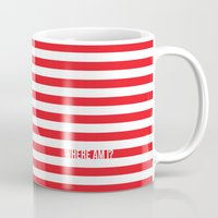 waldo Mugs featuring Self Aware Waldo by Emily Young Design