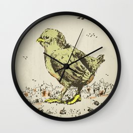 feel the earth tremble (or monster chick) Wall Clock