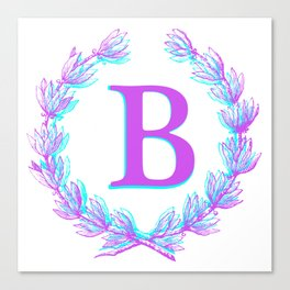 Hello Gabby Monogram Collection - Letter B Canvas Print