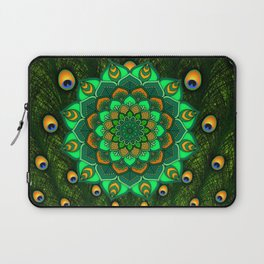 green peacock mandala Laptop Sleeve