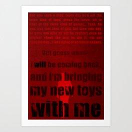 P.T. - Red Art Print
