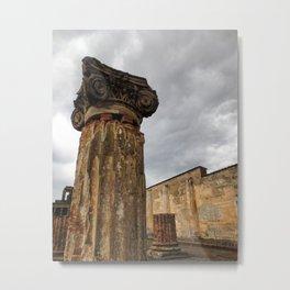 Pompeii Columns Metal Print