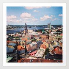 Rīga Art Print
