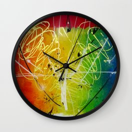 Swirl of Joy Wall Clock