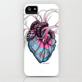 Butterfly Heart Blue iPhone Case
