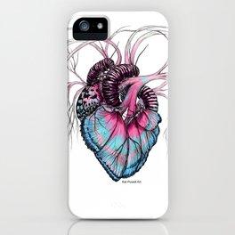 Butterfly Heart Blue iPhone Case
