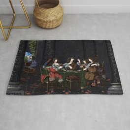 Abraham Bosse Hearing and Sight Rug