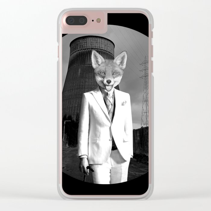 The White Fox is going to town Clear iPhone Case