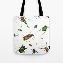 Bug Life - Beetles - Bugs - Insects - Colorful - Insect Pattern Tote Bag
