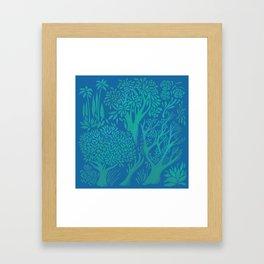 Blue Forrest Framed Art Print