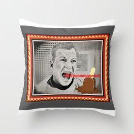 MELTDOWN-CAPT. KIRK Throw Pillow