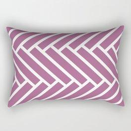 Mauve and white herringbone pattern Rectangular Pillow