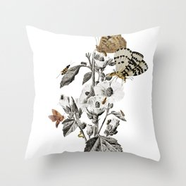 Insect Toile Throw Pillow