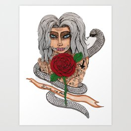 Zombie girl. Art Print