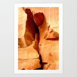 The Cleft of the Rock Art Print