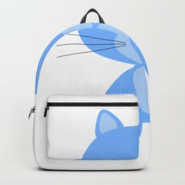 French Sky Blue Cat Backpack