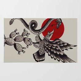 Águila nopal serpiente Rug