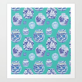 Chinoiserie Ginger Jar Collection No.5 Art Print