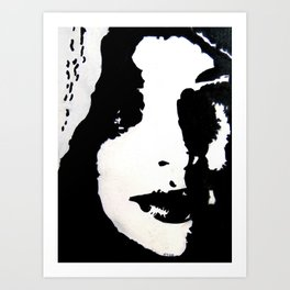 Shadow Portrait Art Print