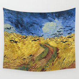 Wheatfield with Crows by Vincent van Gogh Wall Tapestry