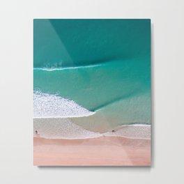 Waves in Sheets Metal Print