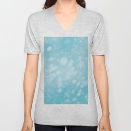 Turquoise Ombre Unisex V-Neck