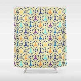 Game Board - Cream Shower Curtain