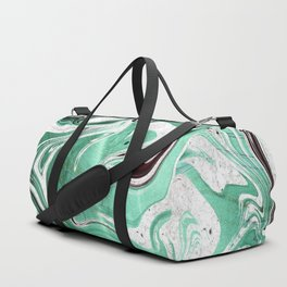 A New Day - Turquoise Marble Swirl Duffle Bag